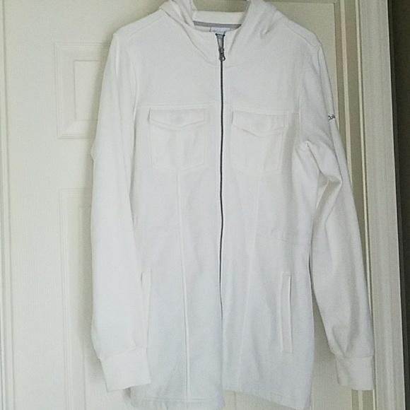 25fe39c226a5 Columbia Jackets & Coats | Off White Fleece Jacket Wirh Hood | Poshmark